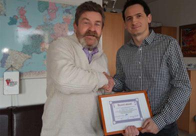 Elismerést kapott Dr. Stampfel Balázs képviselőtársunk